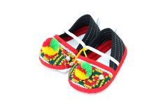 Small Baby Hmong Shoes Embroidered Fabric by hilltribeshoes... WHOLESALE PRICES AVAILABLE