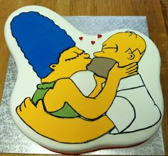 Homer and Marge...aww