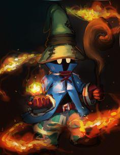 "dagneo: "" 60 min Final Fantasy speed paints - ""Black Magic"" (Vivi, FFIX)| process """
