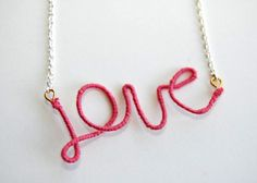 thread-wrapped love necklace