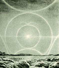 Complete Solar Halo, Larousse Encyclopedia of Astronomy, circa 1959, Lucien Rudaux