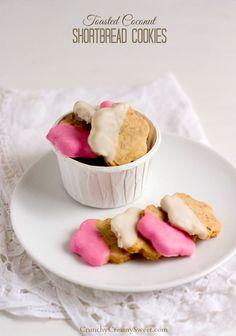 Chocolate Dipped Coconut Shortbread Cookies Recipe