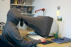 Very attractive 'Computer-Hoodie' the must-have accessory for all teenage boys with autism...