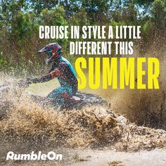 Getting bored with the same old pavement? 😩 🛣️ Let loose and live a little this summer with We have a great selection of and you can browse from your living room. Get started on your trade or get a cash offer today, with RumbleOn! Four Wheelers, Dirtbikes, Atvs, Pavement, Motocross, Offroad, Quad, Yamaha, Off Road