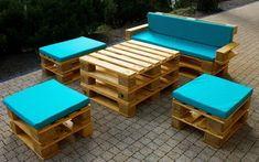 Zachwycające zestawy mebli z palet do Tojego ogrodu. Dużo pomysłów!