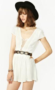casual white gala