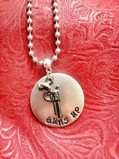 Hand Stamped Texas Tech Necklace by MyGrannysPennies on Etsy, $25.00