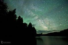 From The Trees Milky Way. Lutsen, Minnesota (by -_Scott Mason Photography-)