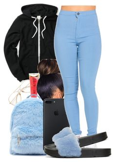 """""""Since it's been a minute"""" by guwapshawty ❤ liked on Polyvore featuring Barry M, Forever 21 and Baja East"""