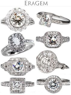Some of our favorite antique and vintage engagement rings from EraGem