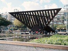 "Tel Aviv, Israel - Sculpture, ""Holocaust and Revival"" by  Yigal Tumarkin, 1975, Rabin Square (תל אביב)"