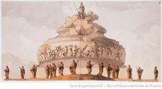 [Monument à Athéna ; édifice de plan circulaire] : [dessin] / Jn Jques lequeu del 1776 - 1