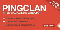 PingClan is a free backlinks creator that you can use to create your own free backlinks creator site in minutes. You also get approx 1900 domains list to ping urls and can add even more easily.