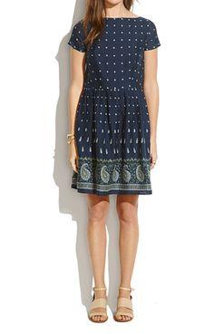 nomad paisley dress | madewell