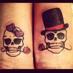 elegant skull tattoo - Recherche Google