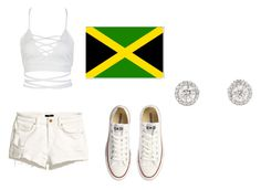 tic-toc// salty by tiaramb11 on Polyvore featuring polyvore fashion style WithChic H&M Converse clothing