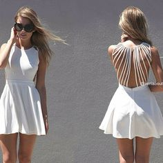 Lindo vestido para verano # Cute white dress for summer .