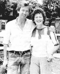 Eric Clapton and his mother, Patricia, who he was raised to believe was his sister.
