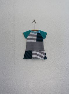 Upcycled TShirt Dress Size 2 Recycled T by cynthiamadeforkids
