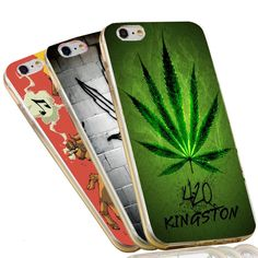 420 Somke Weed Leaf Soft TPU Case For Apple iPhone 7 6 Plus 6S 5C 5 SE 5S 4 4S Slim Silicon Mobile Phone Cover