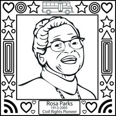 Printable interactive Black History Month coloring pages Black