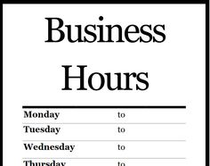 7 best business hours sign images on pinterest business hours sign printable pdf business hours sign sign templates office templates templates free resume templates wajeb Choice Image