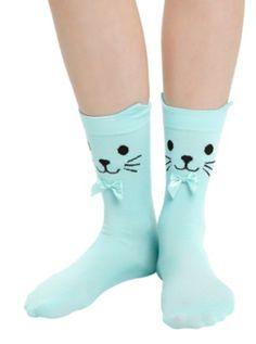 LOVEsick Sea Kitty Ankle Socks