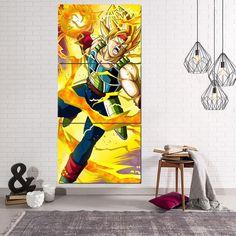 Dragon Ball Bardock Super Saiyan Ki Blast 3Pc Canvas Print  #DragonBall #Bardock #SuperSaiyan #Ki #Blast #3Pc #Canvas #Print