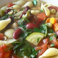 Olive Garden Minestrone Soup (Little One's favorite!)