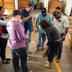 Maya educating our team on fermentation stages and classification. #mayaselvacigars #villazamorano #flordeselva #honduras #cigars #mscteamusa by gabealvarez_