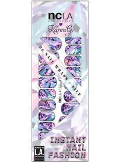 Cut for a princess, these nail wraps are meant to compliment a girl's best friend.. diamonds, of course! | NCLA