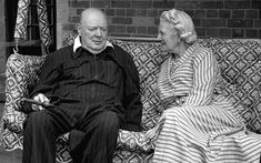 winston and clementine churchill sitting on couch Clementine Churchill, Winston Churchill, Great Words, British History, Picture Quotes, Victorious, Britain, Hero, Couple Photos