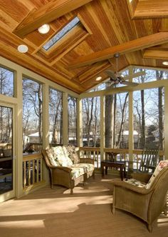 Spacious indoor patio