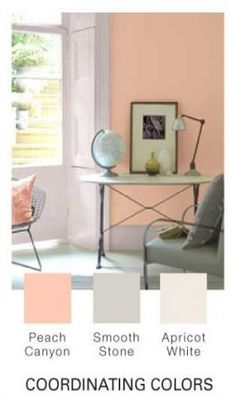 25 Ideas Bedroom Paint Colors Peach Living Rooms For 2019 Peach Living Rooms, Peach Rooms, Peach Bedroom, Peach Walls, Living Room Colors, Living Room Paint, Living Room Decor, Home Bedroom, Bedroom Decor