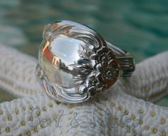 Sterling Silver Antique Fork Ring $80.00 http://www.artfire.com/ext/shop/product_view/5077643