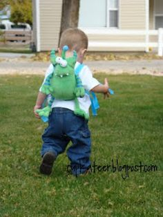 How to make a stuffed animal child harness. (I used to be appalled by child leashes...and then I had a child. Now I get it.)