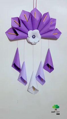 Diy Crafts Hacks, Diy Crafts Jewelry, Diy Crafts For Gifts, Diy Arts And Crafts, Creative Crafts, Cool Paper Crafts, Paper Flowers Craft, Paper Crafts Origami, Flower Crafts