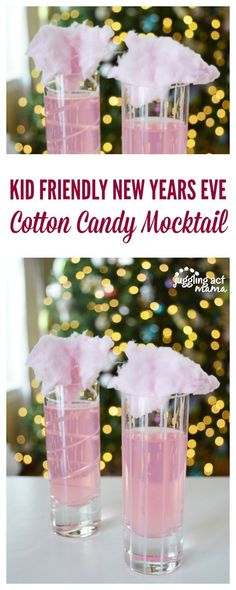 These simple Cotton Candy Mocktails are perfect for New Year's Eve, Valentine's Day, baby showers, birthdays and more.