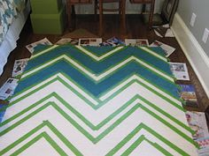 chevron rug diy. Yup. Next project: painting a rug.