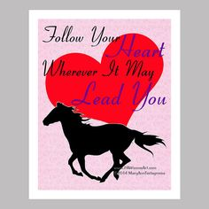 Horse Print  Horse Poster  Horse Art by PawsomeArtDesigns