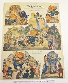 Vintage 1924 Halloween Decoration-The Gimmicks-Ladies Home Journal byLou Rogers #LadiesHomeJournal