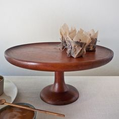 Muhs Home - Acacia Footed Cake Stand