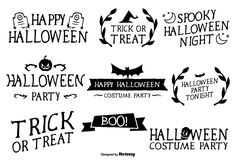 Here is an awesome set of assorted handwritten typographic Halloween labels that I am sure you can find many spooky uses for. Enjoy!