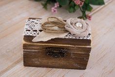 Ring Pilow Set Ring Holder Wedding Ring Box His by HappyWeddingArt