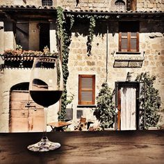 It's definitely time for an aperitivo! Wandering the medieval streets of Bolsena Italy on a hot summers day.