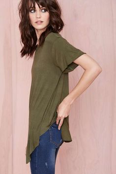 Nasty Gal Playing Favorites Tee - Green | Shop Tops at Nasty Gal