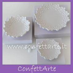 Ciotoline in ceramica bianca
