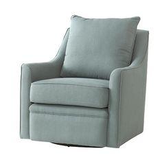 Custom Khloe Upholstered Swivel Chair - Glider - Living Room Chairs ...