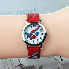Watches Lower Price with Spiderman Cartoon Watch Fashion Children Boys Kids Students Spider-man Nylon Sports Watches Analog Wristwatch Relogio Neither Too Hard Nor Too Soft