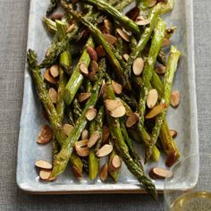 Roasted #Asparagus with #Almonds